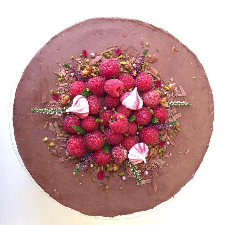 Malinovo-čokoládový dort