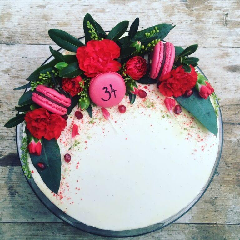 Slavnostní dort vanilka s čokoládou